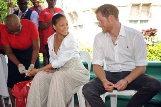 Rihanna gets an HIV test with Prince Harry's support